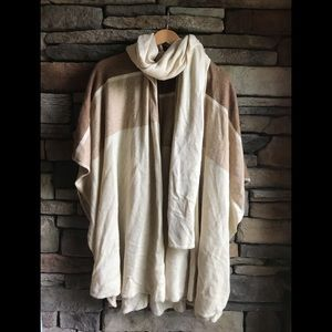 Moda International Tan Wrap Sweater -SizeXS/S- EUC